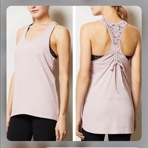 Anthropologie Pure + Good Lace Workout Tank